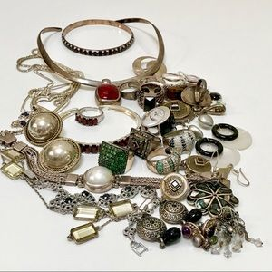 Jewelry - FOR SALE Lot of Silver 925 Jewelry Precious Stones